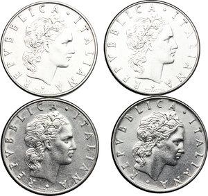 obverse: Lotto di 4 monete da 50 lire 1974, 1977, 1978, 1981
