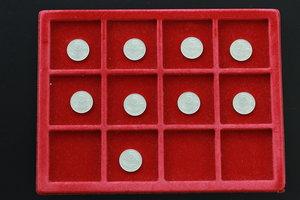 reverse: Lotto di 9 monete da 5 lire, 1977