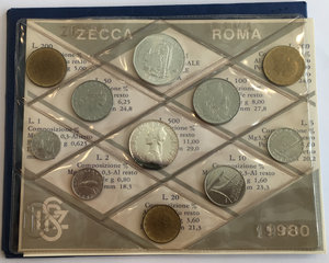 obverse: Monete divisionali 1980 in confezione zecca