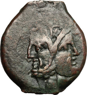 D/ Anonymous. AE As, 91 BC.  D/ Head of Janus, laureate. R/ Prow of galley right. Cr. 339/1a. AE. g. 11.93  mm. 28.00    F.