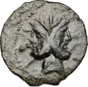 D/ L. Calpurnius Piso Frugi. AE As, 90 BC.  D/ Head of Janus, laureate. R/ Prow of galley right, on which Victoria standing right, holding palm. Cr. 340/4. AE. g. 9.56  mm. 25.00    VF.