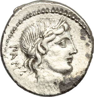 D/ C. Vibius C. f. Pansa. AR Denarius, 90 BC.  D/ Head of Apollo right, laureate. R/ Minerva in quadriga right. Cr. 342/5. AR. g. 3.88  mm. 19.00    About EF.