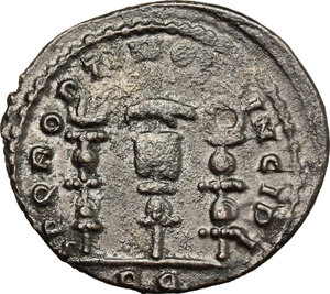 R/ Constantine I (307-337). AE follis, Rome mint, 312-313.  D/ Bust of Constantine right, laureate, draped, cuirassed. R/ Legionary eagle between two vexilla. RIC VI 349a. AE. g. 4.06  mm. 24.00    About VF.