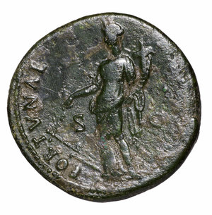 reverse: Domitian. 81-96 AD. AE Dupondius. O:\ Radiate head to right. R:\ FORTVNA AVGVSTI SC; fortune standing left. 12,16 gr.-28,26 mm. RIC 417. VF