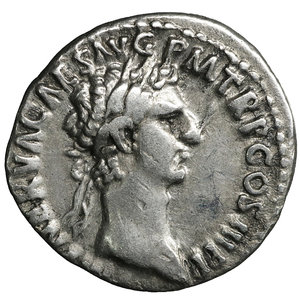 obverse: Nerva. Jan - Sept, 97 AD. Denarius. 3.45 gr. - 17.3 mm. O:\ IMP NERVA CAES AVG PM TR P COS III P P, laureate head right. R:\ FORTVNA AVGVST - Fortuna standing left, holding rudder and cornucopia. RIC 16, RSC 66. XF