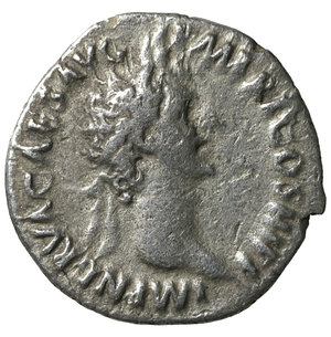 obverse: Nerva. 96-97 AD. AR denarius. 2.95 gr. – 17.9 mm. O:\ IMP NERVA CAES AVG P M TR P COS III P P; Laureate head right. R:\ IVSTITIA AVGVST Justitia seated left. VF+