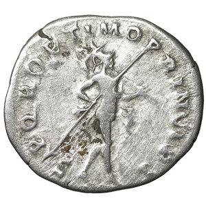 reverse: TRAJAN (98-117). Denarius. Rome. 3.25 gr. – 20.2 mm. O:\ IMP TRAIANO AVG GER DAC P M TR P COS VI P P. Laureate head right, slight drapery on left shoulder. R:\ SPQR OPTIMO PRINCIPI. Mars, nude, walking right, with spear in right hand and trophy in left over shoulder. Woytek 423b. VF+