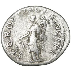 reverse: TRAJAN (98-117). Denarius. Rome. 3.15 gr. – 19.5 mm. O:\ IMP TRAIANO AVG GER DAC P M TR P COS V P P. Laureate bust right, slight drapery on left shoulder. R:\ SPQR OPTIMO PRINCIPI. Aequitas standing left with cornucopia and scales. Woytek 222b. XF