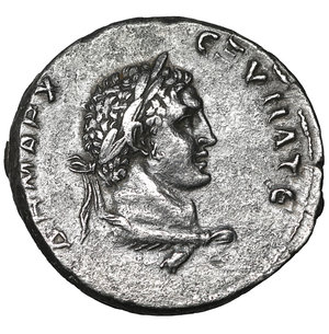 reverse: SELEUCIS and PIERIA, Antioch. Trajan. AD 98-117. AR Tetradrachm. 26 mm - 12.49 gr, 6h. Struck AD 103-111. O:\ Laureate head of Trajan right above eagle standing right; club before. R:\ Laureate head of Melqart-Hercules right, with lion's skin tied around neck. McAlee 455; Prieur 1495 (Tyre); RPC III 3528. Rare, XF\UNC