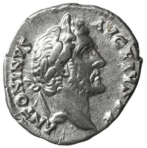 obverse: Antoninus Pius. 138-161 AD. Denarius. Rome. 2.75 gr.- 17.1 mm. O:\ ANTONINVS AVG PIVS P P. Laureate head right. R:\ TR POT COS IIII / LIB IIII. Liberalitas standing left with abacus and cornucopia. RIC 155. UNC