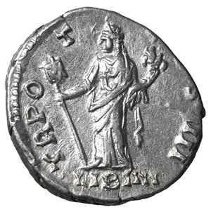 reverse: Antoninus Pius. 138-161 AD. Denarius. Rome. 2.75 gr.- 17.1 mm. O:\ ANTONINVS AVG PIVS P P. Laureate head right. R:\ TR POT COS IIII / LIB IIII. Liberalitas standing left with abacus and cornucopia. RIC 155. UNC