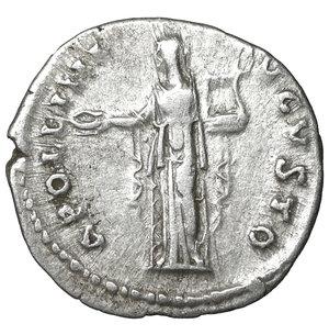 reverse: Antoninus Pius (138-161). AR Denarius. 3.25 gr. – 18.3 mm. Rome. c. 140-143 AD. O:\ ANTONINVS AVG PIVS P P TR P COS IIII, bare head right. R:\ APOLLINI AVGVSTO, Apollo standing front, head left, holding patera and lyre. RIC III, p. 33, 63B. XF