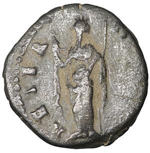 reverse: Diva Faustina Junior. AE Limes Denarius. Rome, AD 176. 3.05 gr. – 16.6 mm. O:\ DIVA FAV-STINA PIA, Draped bust right. R:\ AETERNITAS, Aeternitas standing l. RIC 738. Scarce. VF\XF