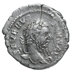 obverse: Septimius Severus. AR Denarius, 208, Rome. 3,2 gr. – 19,9 mm. O:\ SEVERVS-PIVS AVG; Laureate head right. R:\ P M TR P XVI-COS III P P; Salus seated left, sacrificing from patera in right hand over lit and garlanded altar at left, scepter in left hand. RIC IV, Part I, 221. VF/EF
