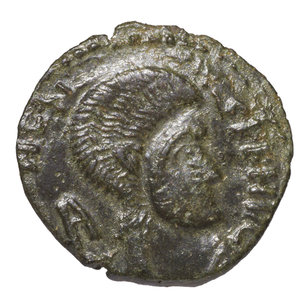 obverse: BARBARIC IMITATION. MAGNENTIUS IV° sec. AD. CENTENNIONALIS. AE 2,80 gr. – 18,87 mm. O:\ Head to right. R:\ Two Victories holding shield. RARE. XF