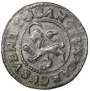D/ Venezia. Pietro Loredan. doge LXXXIV, 1567-1570. Da 4 Carzie per Cipro. MI 18 mm - 1,96 gr. O:\ + PETRVS LAVREDA DVX Croce patente. R:\ + SANCTVS MARCVS VENET Leone rampante. CNI 59. Paolucci 15. NC. SPL