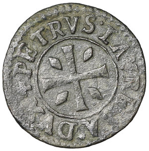 R/ Venezia. Pietro Loredan. doge LXXXIV, 1567-1570. Da 4 Carzie per Cipro. MI 18 mm - 1,96 gr. O:\ + PETRVS LAVREDA DVX Croce patente. R:\ + SANCTVS MARCVS VENET Leone rampante. CNI 59. Paolucci 15. NC. SPL