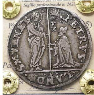 D/ VENEZIA. Pietro Lando (1539-1545). Mocenigo 6.30 gr. – 33.9 mm. Pao. 5. SPL. Rara
