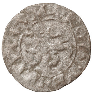 D/ Venezia. Girolamo Priuli. 1559-1567 DC. Carzia per Cipro. BI 13 mm - 0,38 gr. O:\ + • HIERON • PRIOLI • DVX •, croce patente. R:\ + S • MARCVS • VENETVS, Leone. Papadopoli 91; Paolucci 17. BB\SPL