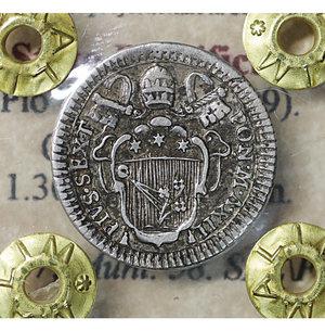 obverse: Stato Pontificio. Pio VI (1775-1799). Grosso A. XII. 1.30 gr. – 19.3 mm. Ser. 267; Munt. 58. SPL\FDC
