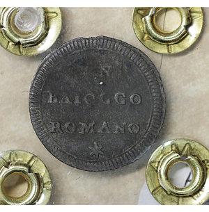 reverse: Stato Pontificio. Pio VI (1775-1799). Baiocchella o Baiocco Romano. 1780. Mi 0.65 gr. – 17.0 mm- CNI 59; Munt. 93. Raro. SPL per la tipologia