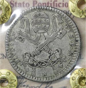 obverse: Stato Pontificio. Pio VI (1775-1799). 2 Carlini A. X. 5.55 gr. – 26.7 mm. CNI 147; Munt. 77. Rara. SPL