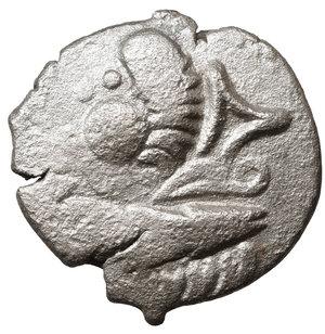 obverse: EASTERN CELTS. 3rd-2nd century BC. Tetradrachm. Silver, 24,9 mm - 8.15 gr.  Kugelwange  type. O:\ Celticized laureate head of Zeus to right. R:\ Horse galloping left; above, circlet; below, cross. Flesche 615 var. Göbl OTA pl. 17, 193/3. Lanz 466. VF