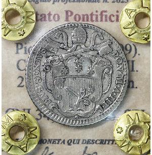 obverse: Stato Pontificio. Roma. Pio VI (1775-1799). Carlino 1777 A. III. 2.65 gr. – 21.2 mm. CNI 34; Munt. 86. SPL