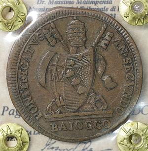 obverse: Stato Pontificio. Pio VII (1800-1823). Baiocco 1802 A. II. 11,45 gr. - 34,2 mm. Pag. 81; Mont. 57. SPL\FDC