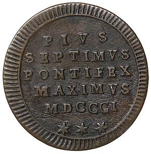 obverse: Stato Pontificio. Pio VII (1800-1823). Quattrino 1801. 2.35 gr. – 22.2 mm. Pag. 88a; Mont. 66 CU I tipo. FDC
