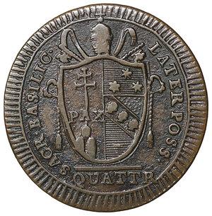 reverse: Stato Pontificio. Pio VII (1800-1823). Quattrino 1801. 2.35 gr. – 22.2 mm. Pag. 88a; Mont. 66 CU I tipo. FDC