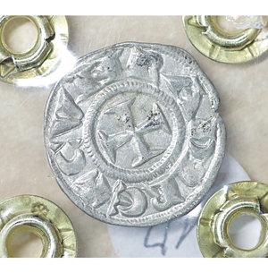 reverse: GENOVA. Repubblica (1139-1339). Denaro. AR 0.81 gr. – 16.7 mm. Castello /R Croce patente. CNI 1/69; MIR 16. SPL