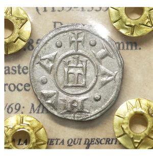 obverse: GENOVA. Repubblica (1139-1339). Denaro. 0.85 gr. – 17.1 mm. O:\ Castello. R:\ Croce patente. CNI 1/69; MIR 16. SPL