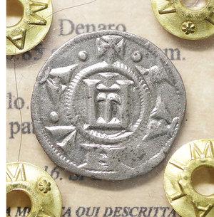 obverse: GENOVA. Repubblica (1139-1339). Denaro. 0.85 gr. – 16.5 mm. O:\ Castello. R:\ Croce patente. CNI 1/69; MIR 16. SPL+