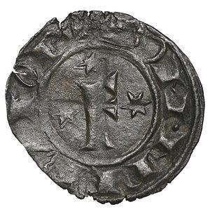 obverse: Regno di Sicilia. BRINDISI. Federico II (1197-1250). Denaro (1249). 0.51 gr. – 16.8 mm. D:\ F con tre stellette. R:\ Croce con 4 stellette. Spahr 148; MIR 298. NC. qSPL
