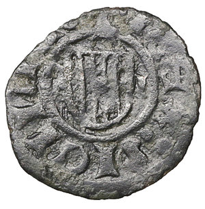 reverse: Regno di Sicilia. Messina. Alfonso I 1415-1458. Denaro MI. gr 0,58. mm 14,7. Spahr 37A , MIR 227. BB\SPL