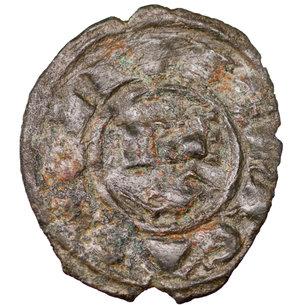 obverse: Regno di Sicilia. Brindisi. Corrado I (1250 - 1254). Denaro 0.65 gr. - 16.8 mm. D:\ Croce patente. R:\ Nel campo RX. Spahr 156. BB+