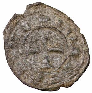 reverse: Regno di Sicilia. Brindisi. Corrado I (1250 - 1254). Denaro 0.65 gr. - 16.8 mm. D:\ Croce patente. R:\ Nel campo RX. Spahr 156. BB+