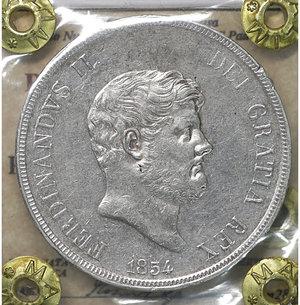 obverse: Regno delle 2 Sicilie. Ferdinando II. Piastra da 120 Grana 1854. SPL
