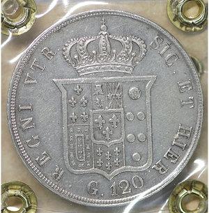reverse: Regno delle 2 Sicilie. Ferdinando II. Piastra da 120 Grana 1854. SPL