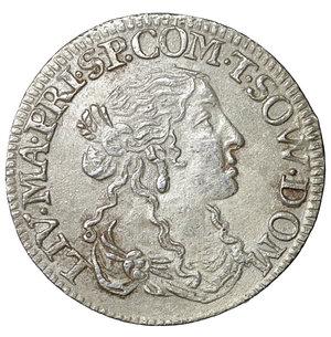 obverse: Tassarolo. Livia Centurioni Oltremarini (1618-1668). Luigino 1666. AR 2.05 gr. – 20.7 mm. Cammarano 368. SPL