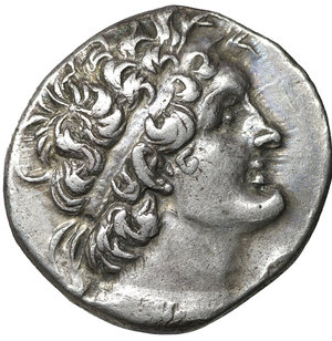 obverse: PTOLEMAIC KINGS of EGYPT. Ptolemy VIII Euergetes II (Physcon). 145-116 BC. AR Tetradrachm. 26 mm - 13.42 g, 12h. Alexandreia mint. Dated RY 31 (140/39 BC). O:\ Diademed head of Ptolemy I right, wearing aegis around neck. R:\ Eagle standing left on thunderbolt; LΛA (date) to left, ΠA to right. Svoronos 1581; Olivier 1327; SNG Copenhagen 327 var. (date); DCA 54. aUNC