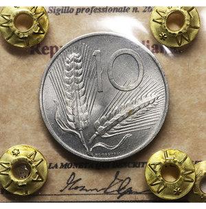 D/ Repubblica Italiana. 10 Lire 1968. SPL. PERIZIATA