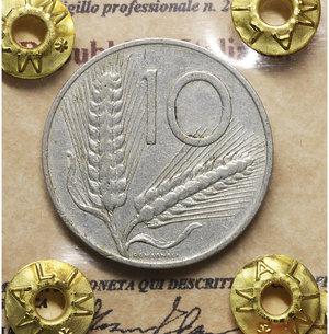 D/ Repubblica Italiana. 10 Lire 1966. BB\SPL. PERIZIATA