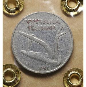 R/ Repubblica Italiana. 10 Lire 1966. BB\SPL. PERIZIATA