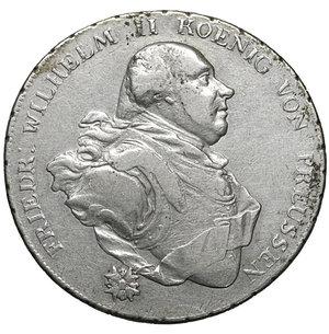 obverse: Germany. Prussia. Friedrich Wilhelm II. 1786-1797. Taler 1795, Berlin. 27.85 gr. – 39.2 mm. Dav. 2600, J.182, Olding. 55. XF