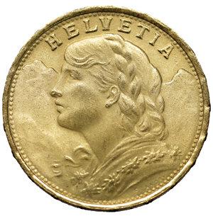 obverse: Switzerland 20 Francs 1930 B Switzerland Coin, Bern, Gold 900 ‰ 6.42 gr – 21.15 mm. KM:35.1. Mintage: 3.371.764 MS