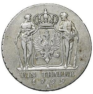 reverse: Germany. Prussia. Friedrich Wilhelm III. 1797-1840. Taler 1799 A, Berlin. 22.00 gr. – 36.9 mm. Dav. 2603, Olding 102. XF