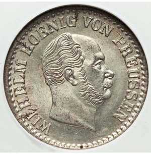 obverse: German States. Prussia. Wilhelm I Groschen 1873-A NGC MS64 NGC, KM485