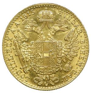 reverse: Austria Francesco Giuseppe Ducato 1915. 3,50 gr. - 20,0 mm. FDC